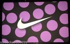 Nike CANADA PURPLE POLKA DOT SWOOSH Logo Collectors gift card English/French