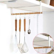 Bathroom Kitchen Organizer Tool Hanging Rack Cabinet Shelf Cupboard Tissue Hooks