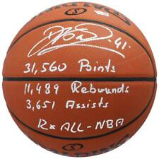 DIRK NOWITZKI Autographed Dallas Mavericks Stat Basketball FANATICS LE 11