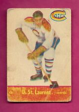 1955-56 PARKHURST # 48 CANADIENS DOLLAR ST LAURENT CARD (INV# 9902)