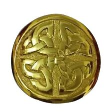 Men's Celtic Round Buckle Gold Finish/Kilt Belt Buckle Celtic
