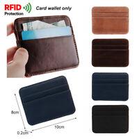 Credit Card Holder Pu Leather Slim Wallet Anti-chief Money Clip RFID Blocking