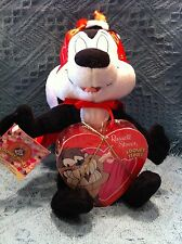 "NOS LOONEY TUNES VALENTINE'S DAY PEPE LE PEW 10"" PLUSH DEVIL COSTUME"