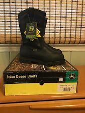 John Deere Waterproof Insulated MET Guard Work Miner Boots Size 7.5 W New in Box