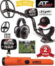 Garrett AT Max Metal Detector Z-Lynk Wireless Headphones & Z-Lynk Propointer