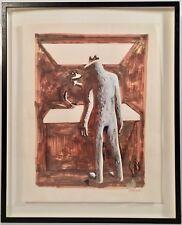 Listed Artist Mark Kostabi (b. 1960) Signed Mixed Media Modernist Painting