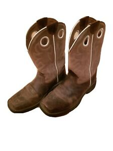CHILDREN/'S//YOUTH ARIAT WORK HOG WESTERN WORK BOOTS 10008644 SQUARE TOE
