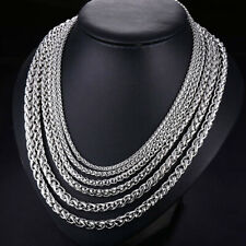 """3/5/6/8mm 20""""-30"""" SILVER STAINLESS STEEL BALL CHAIN NECKLACE, USA SELLER"""