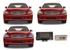 for Infiniti G35 07-09 RGB Multi Color RF LED Halo kit for Headlights
