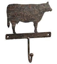 Portemanteau 1 crochet  vache en fer forgé portemanteaux