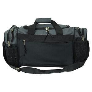"Men/Women Dufflel Bag Sports Travel Workout Gym Bag Red Black Blue Gold Gray 17"""