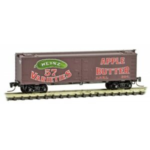 Micro-Trains MTL Z-Scale Heinz Series Car #8 - 36ft Wood Reefer Apple Butter 394