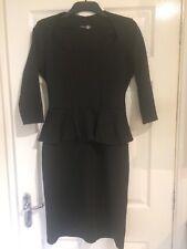 Smart Midi Black Peplum Dress 14