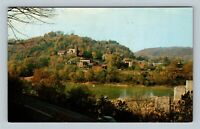 Harpers Ferry WV, View From Shenandoah River, Chrome West Virginia Postcard