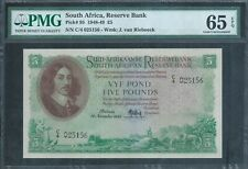 South Africa £5 P95 16.11.48 PMG 65 EPQ Gem Uncirculated