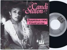 CANDI STATON Suspicious Mind / Count On Me Swedish 45PS 1982. SOS 7""
