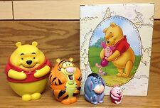 Winnie The Pooh Piglet Eeyore Tigger DISNEY LIVE Perfect Day STACKING DOLL Set