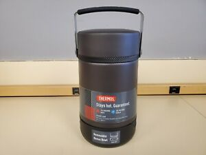 Thermos Guardian Collection 27oz Stainless Steel Food Jar Matte Black New READ
