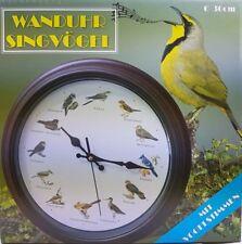 Wanduhr Singvögel mit Vogelstimmen Kunststoff  ca 30cm