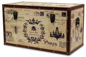 Trunk Chest Wood Decoration Paris,Eiffel Tower
