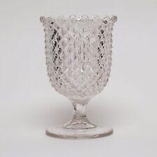 Flint Chalice Spooner Diamond Pointed Antique circa 1830-1839 EAPG Rare