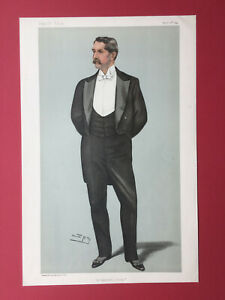 Original 1899 Vanity Fair Print of Mr Henry White
