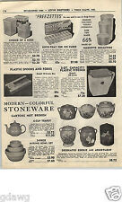 1952 PAPER AD Earthenware Cookie Jars Fluted Rib Mixing Bowl Sets Tea Pots Hall?