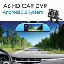 New Android 5.0 Car Rear view Mirror Navi GPS + 1080P DVR + Wifi + Backup Camera