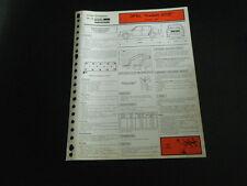 FICHE TECHNIQUE RTA OPEL KADETT GT/E modèle 1984 (support 5)