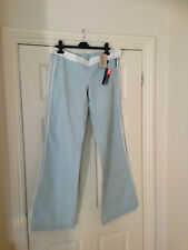 Women's light blue and white casual trousers by Diesel W30/L34 NWT RRP £85