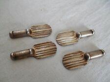 4 PORTE COUTEAUX ART DECO métal argenté CHRISTOFLE création Luc Lanel vers 1930