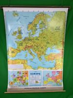 2006 Concept Phisycal Political Europe Pull Down Map Education Wall Decor