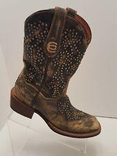 Dan Post Cross Walker Cowgirl Boot - Square Toe Tan 8.5 M
