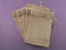 "25 Burlap Bags with Natural Jute Drawstring - 3"" x 5"" - Sack Favor Bag - 3x5"