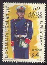 Military academy 50 anniv soldier in uniform w/ book URUGUAY Sc#1652 MNH STAMP