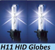 1 pr H11 HID Globes 35W to 55W 4300K or 6000K or 8000K or 10000K