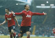 Chicharito - Javier HERNANDEZ SIGNED Man Utd 12x8 Photo AFTAL COA Red Devils
