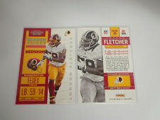 2012 Panini Contenders LONDON FLETCHER #99 Redskins/John Carroll *Free Shipping*