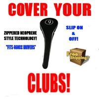 NEW BLACK NEOPRENE #9 FAIRWAY WOOD GOLF CLUB HEADCOVER SET HEAD COVER COVERS