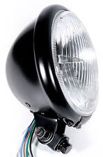 H4 Faros Negros Chopper Negro para HD Custom Harley Davidson Bates Suzuki