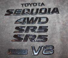 2001 2002 2003 2004 2005 2006 2007 TOYOTA SEQUOIA SR5 4WD CHROME EMBLEM SET