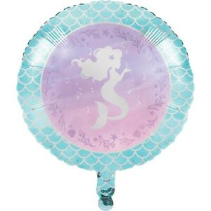 Mermaid Shine Silver Foil Party Tableware, Decorations & Balloons