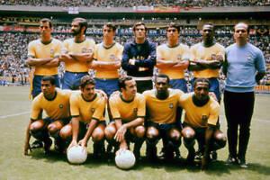 Brazil World Cup Team 1970 Football Club OLD PHOTO