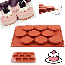 9-Cavity Oval Silicone Mold Soap Cake Bread Cupcake Chees Cornbread Muffin Mould