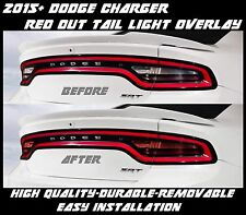 2015 - 2018 Dodge Charger Red Out Tail Light Overlay Tint American Muscle