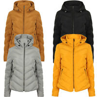New Womens Tokyo Laundry Oracle Quilted Padded Hooded Puffer Jacket Size 8 - 16