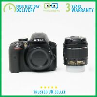 New Nikon D3400 DSLR Camera AF-P DX 18-55mm VR Lens Kit - 3 Year Warranty