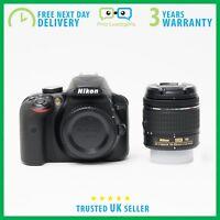 New Nikon D3400 DSLR Camera AF-P DX 18-55mm VR Lens Kit - 3 Year Warranty