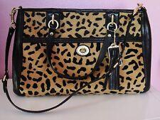 NWT COACH Park HAIRCALF Leopard Carryall Tote Handbag ~RARE & AUTHENTIC~