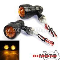 Amber LED Turn Signal Indicator Light Lamp For Harley Chopper Bobber Custom New